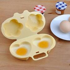 Microwave Two Egg Poacher Cooker Sandwich Breakfast Steamer Easy Cook Instant Y
