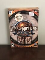 Rise of Nations: Gold Edition (Apple, 2004) Complete CD Game Big Box
