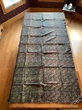 """Vintage Silk Fabric, 48x87"""", Wall Hanging or Bed Cover"""