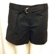 Michael Kors Double Face Stretch Cotton Shorts 8 Black MS63GMLC64  NWT