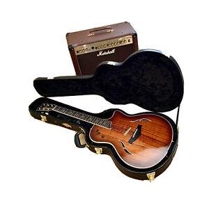 Taylor T5 Classic Custom Koa Acoustic/Electric Guitar w FREE Marshall Amplifier