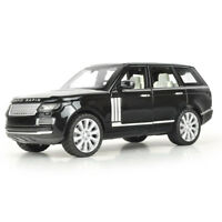 Land Rover Range Rover Diecast Model Car Sound&Light Black 1:24 Toy Opened Door
