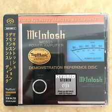 Mcintosh MC501 Demonstration Reference Disc SACD <Top Music> Japan NEW CD