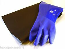 "GLOVE for Sandblaster Blast Cabinet -  LEFT-HAND ONLY - 8"" x 27""  -  Made in USA"