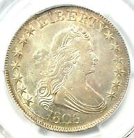 1806 Draped Bust Half Dollar 50C Coin - Certified PCGS AU Details - Rare in AU!