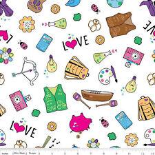 Girl Scouts Fabric, White, Main Fabric, Riley Blake, By the Yard, TheFabricEdge