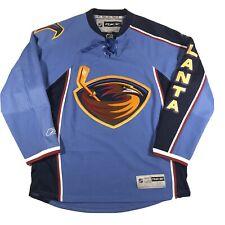 Reebok Atlanta Thrashers NHL Hockey Jersey Vintage Powder Blue Home Patch Medium