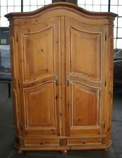 Vtg Distressed Pine Bedroom Clothing Armoire Country Wardrobe Garcia Imports