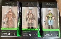 Leia Han Solo Luke Skywalker Endor Star Wars Black Series 3 Figure Set