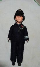 Vtg British Bobby Police Doll Plastic 1950's Sleep eyes