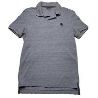 Express Men's Size XS Pique Polo Short Sleeve Shirt Light Blue Embroidered Logo