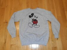Vintage DISNEY Casuals MICKEY MOUSE Grey Pullover Sweatshirt Adult XL Tri Blend