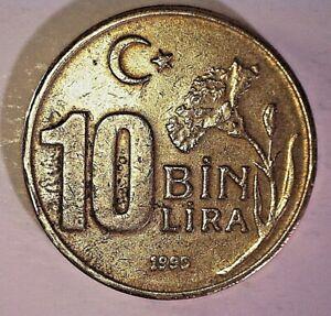 Coin, Turkey, 10000 Lira, 10 Bin Lira, 1995