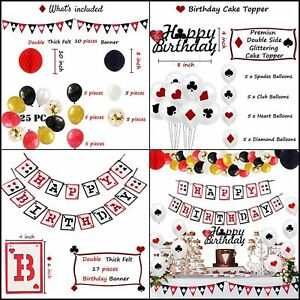 Casino Theme Party Decorations, Casino Birthday Party Decorations Supplies Kit
