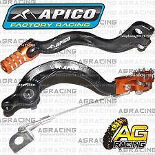 Apico Black Orange Rear Brake & Gear Pedal Lever For KTM SX 65 2010 Motocross