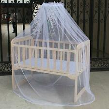 Nursery Baby Cot Bed Toddler Bed or Crib Canopy Mosquito Net White GBNG