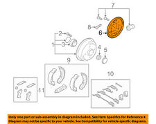 FORD OEM 2008 Focus Rear Brake-Backing Plate Splash Dust Shield YS4Z2212CA