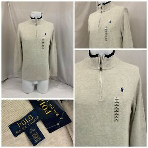 Polo Ralph Lauren 1/4 Zip Pullover Boys XL Brown Cotton NWT YGI Q1-404