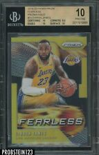 2019-20 Panini Gold Prizm Fearless #3 LeBron James Lakers 4/10 BGS 10 PRISTINE