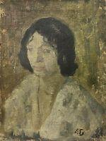 Axel Bentzen (1893-1952) Portrait of a Woman - Art Deco Art Nouveau - Damaged