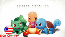 """Pokemon Squirtle Charmander Bulb 42"""" x 24"""" Large Wall Poster Print Anime NEW #10"""