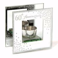 60th Diamond Wedding Anniversary Tea Light Holder Gift WG83760