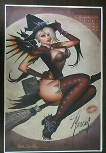 NATHAN SZERDY SIGNED 12X18 ART PRINT MERCY WITCH PIN UP OVERWATCH CALENDAR NEW