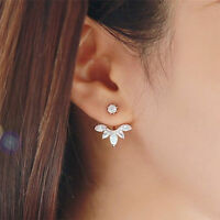 2Pairs New Fashion Women Lady Elegant Crystal Rhinestone Drop Ear Stud Earrings
