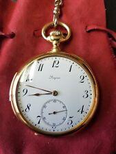 LONGINES Antique 1915 Minute Repeater 18K Gold Calibre L Pocket Watch