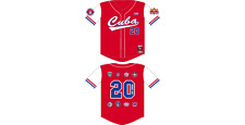 CUBA baseball Jersey Red Latin Baseball Jersey Negro Leagues Baseball Jersey XL