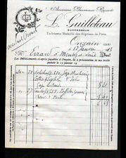 """ONZAIN (41) PHARMACIE """"ROUART / L. GUILLOTEAU Succ"""" en 1913"""
