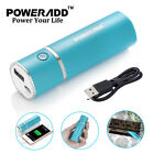 Poweradd Portable Charger Power Bank USB External Battery For Cell Phone 5000mAh