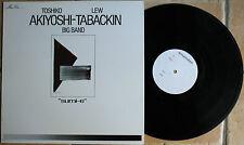 "TOSHIKO AKIYOSHI / LEW TABACKIN ""BIG BAND""  33T  LP"