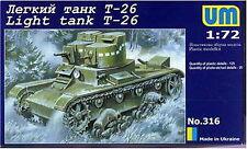 UM Military Technics 316 T-26 Soviet light tank 1/72
