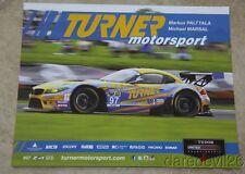 2015 Turner Motorsport BMW Z4 GTD IMSA TUSC postcard