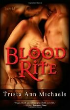 BLOOD RITE by Trista Ann Michaels EROTIC PARANORMAL VAMPIRE MENAGE MFM ~ OOP