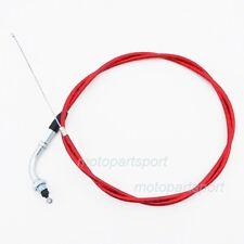 """Gas Throttle Cable 51"""" Red For 49cc 50cc 60cc 80cc Mini Moto Pocket Push Bike"""