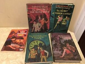 Alfred Hitchcock & The Three Investigators Mystery Series Lot Of 4 HC Books + 1