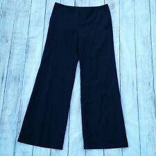 Juicy Couture Black Wide Leg Summer Wool 29 Flat Front Slacks Pants Trousers