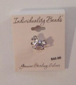 Sterling Silver Individuality Beads - Rocking Horse Charm Bead NEW