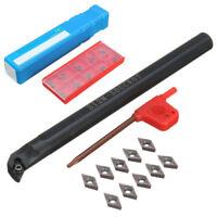 S12M-SDUCR07 CNC Lathe Turning Tool Holder Boring Bar +10pcs DCMT0702 Inserts C#