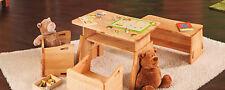 Kindertisch höhenverstellbar Benevita Triolino Kinder Tisch Erle massiv