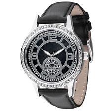 YVES CAMANI Damenuhr Armbanduhr Echtleder Edelstahl rosa silber NEU CRM044B262A