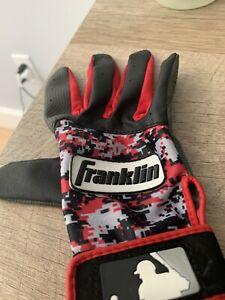 Franklin Sports MLB Digitek Baseball Batting Glove Gray/Red Digital Youth S
