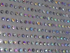 200 x 4mm Self Adhesive AB BLACK DIAMANTE Stick on Gems Rhinestones BLING