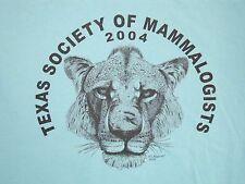 Texas Society of Mammalogists Mammal Animal Lovers Jaguar Lion Tiger T Shirt M