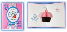 Inky Antics Clear Stamps - Cupcake Birdy - Happy Birthday & Honeycomb Paper