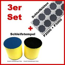 Profi Set 3tlg Schleifstempel 2 Pack Schleifblüten Schleiferklotz Lackfinish