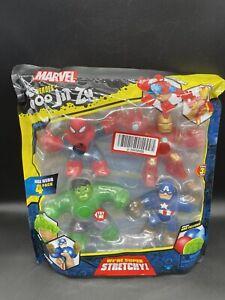 Heroes of Goo Jit Zu Marvel Hero 4-Pack Spider Man Hulk Iron Man Captain America