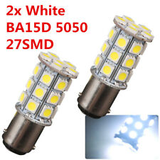 2Pcs Bright White BA15D 5050 27SMD 12V Cabin Marine Boat Led Light 3 chips 1142